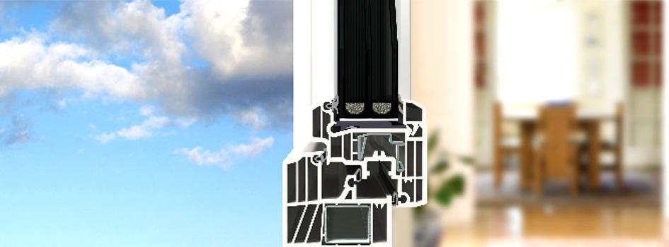 Fenêtres avec renforts acier